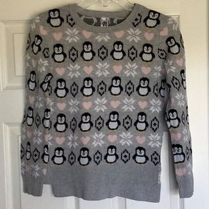 Beauties Penguins/Snowflakes/Pink Hearts Sweater